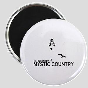 Mystic CT - Lighthouse Design. Magnet