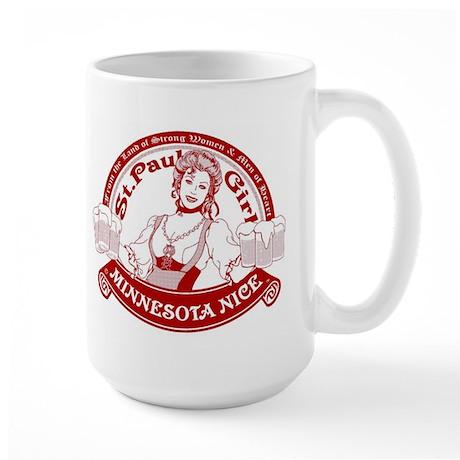 Minnesota Nice st paul girl Large Mug
