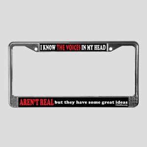 Voices In My Head (black) License Plate Frame