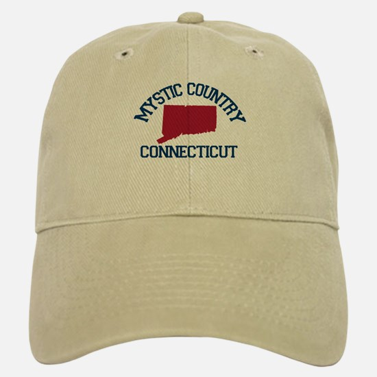 Mystic CT - Map Design. Baseball Baseball Cap
