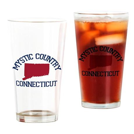 Mystic CT - Map Design. Drinking Glass