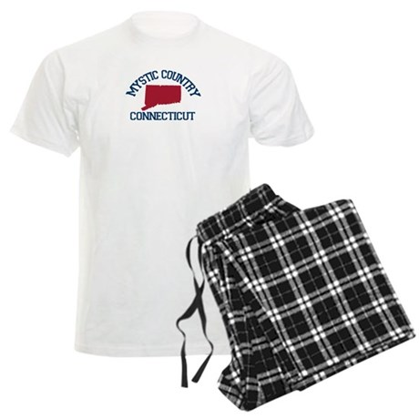 Mystic CT - Map Design. Men's Light Pajamas