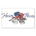 Horses4Heroes Logo Sticker (Rectangle 50 pk)
