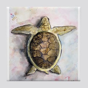 sea_turtle_painting Tile Coaster