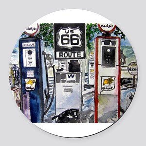 route_66 Round Car Magnet