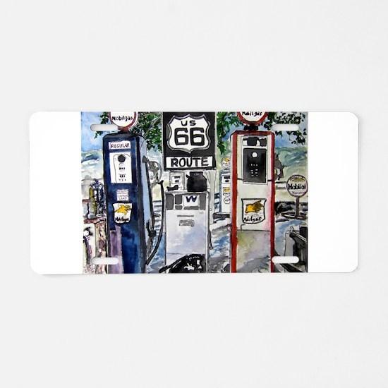 route_66.JPG Aluminum License Plate
