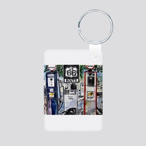 route_66 Aluminum Photo Keychain