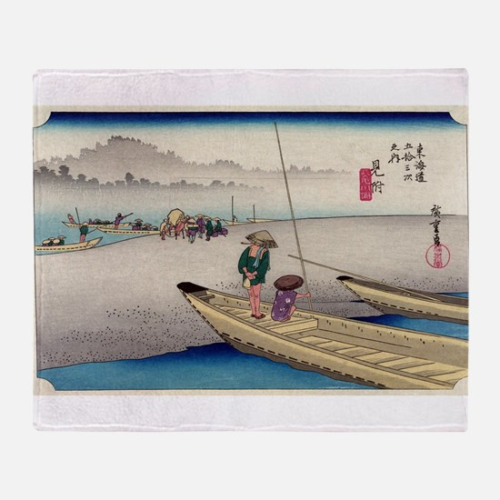 Mitsuke - Hiroshige Ando - 1833 - woodcut Throw Bl