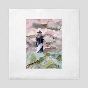 st_augustine_lighthouse Queen Duvet