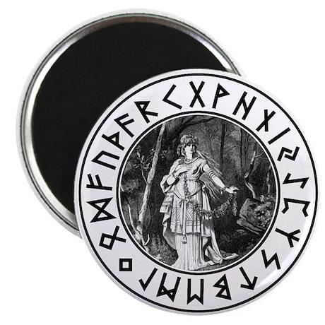 Freya Rune Shield Magnet