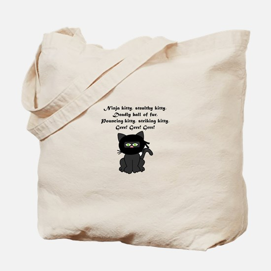 Ninja Kitty Tote Bag