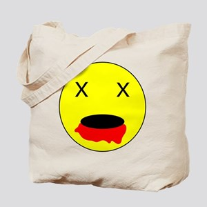 Zombie Smiley Face Tote Bag