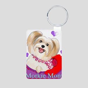 Morkie Mom Aluminum Photo Keychain