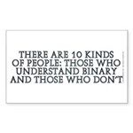 There are 10 kinds Sticker (Rectangle 50 pk)