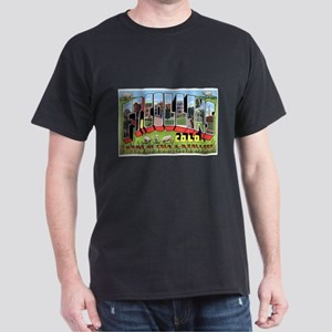 Fort Collins Colorado Greetings (Front) Black T-Sh