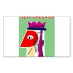 New Orleans Jazz Print Sticker (Rectangle 50 pk)