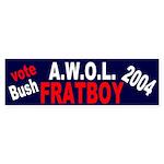 Vote Bush: AWOL Fratboy Bumper Sticker