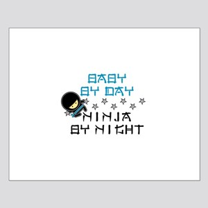 Baby Ninja Blue Small Poster