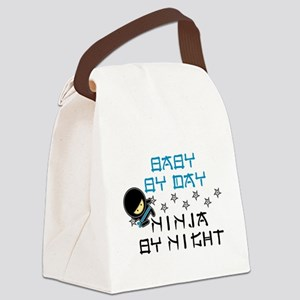 Baby Ninja Blue Canvas Lunch Bag