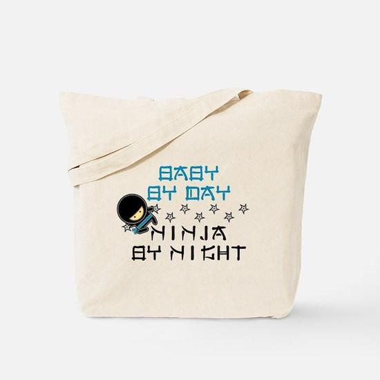 Baby Ninja Blue Tote Bag