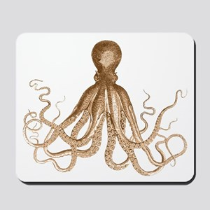 Brown Octopus Mousepad