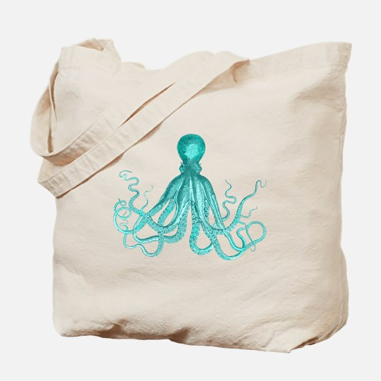 Blue/Green Octopus Tote Bag