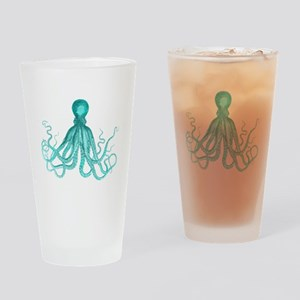 Blue/Green Octopus Drinking Glass