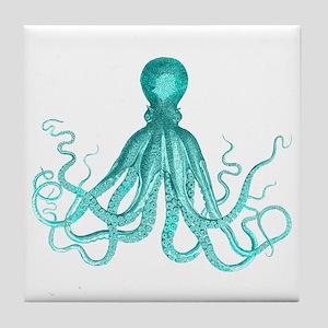 Blue/Green Octopus Tile Coaster