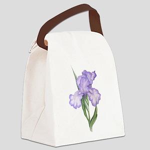 The Purple Iris Canvas Lunch Bag