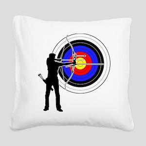 archery man Square Canvas Pillow