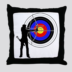 archery man Throw Pillow
