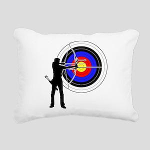 archery man Rectangular Canvas Pillow