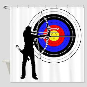 archery man Shower Curtain