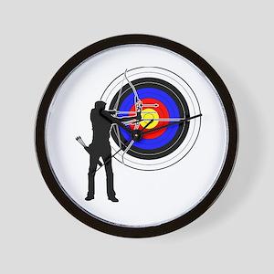 archery man Wall Clock