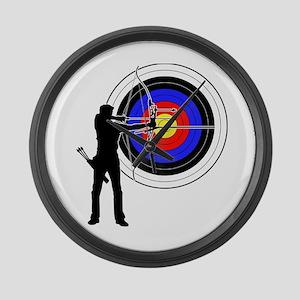 archery man Large Wall Clock