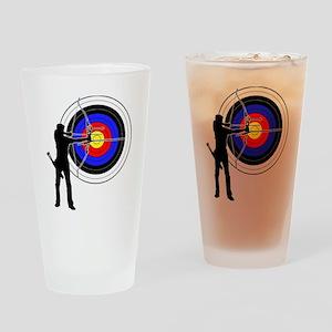 archery man Drinking Glass