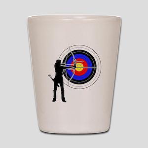 archery man Shot Glass