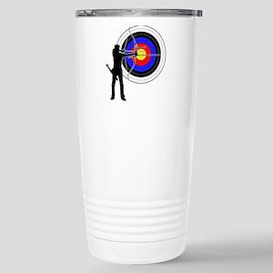 archery man Stainless Steel Travel Mug