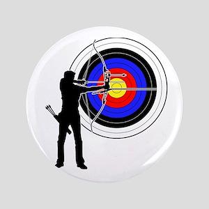 "archery man 3.5"" Button"