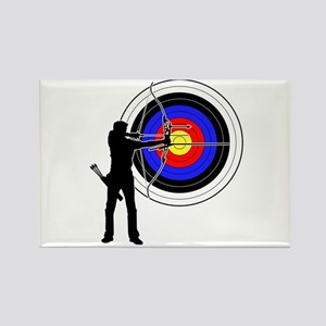 archery man Rectangle Magnet