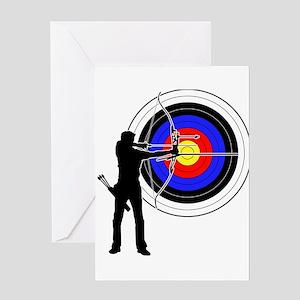 Target greeting cards cafepress archery man greeting card m4hsunfo