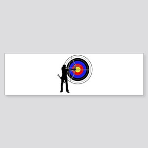 archery man Sticker (Bumper)