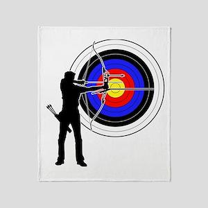 archery man Throw Blanket