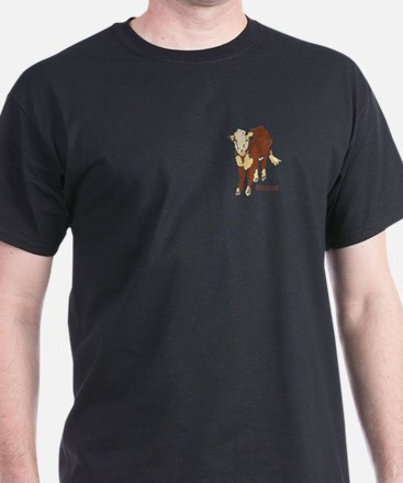 Brown Cow, Black T-Shirt