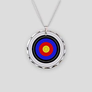 archery Necklace Circle Charm
