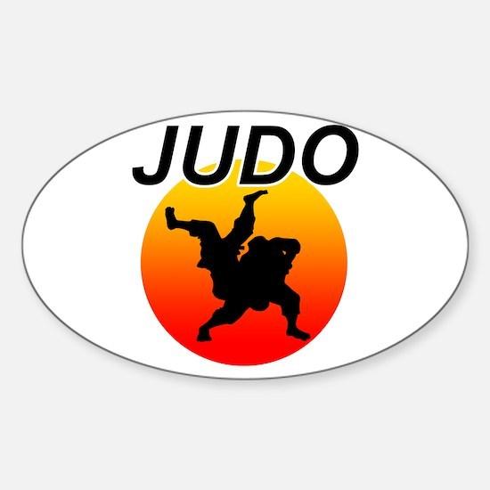 JUDO Sticker (Oval)