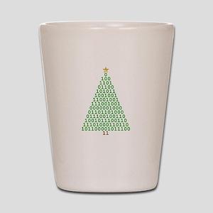 Binary Merry Christmas Shot Glass