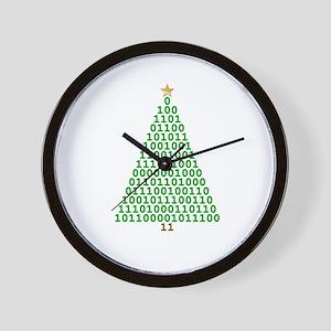 Binary Merry Christmas Wall Clock