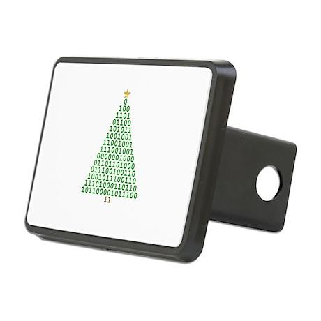 Binary Merry Christmas Rectangular Hitch Cover
