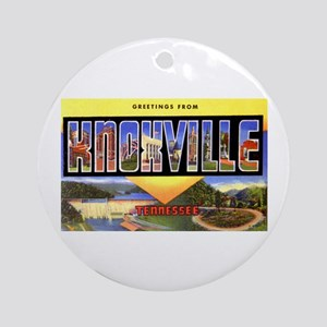 Knoxville Tennessee Greetings Ornament (Round)